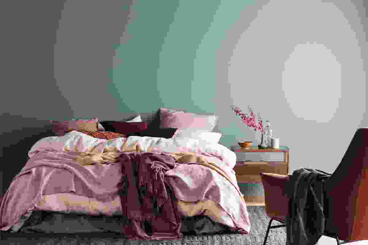 "Deep teal greens and lighter powdered greens mixed with nude tones and deeper reds give the Comfort theme a sense of ""night-time mystery."""
