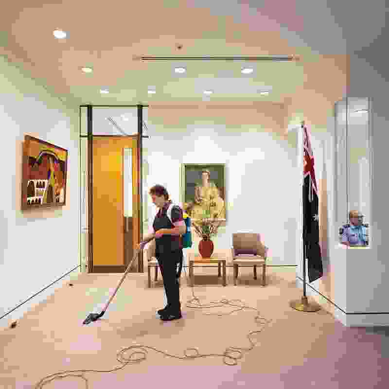Anne Zahalka, Cleaner and Australian Federal Police Officer, Prime Minister's Office, 2014. 