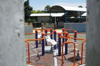 The all-access carousel has seats and wheelchair clips and is set level with the ground for ease of access.