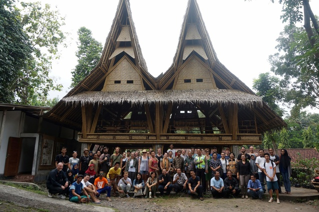 Participants in the AusIndoArch Hands On Architecture student workshop in Yogyakarta, Indonesia.