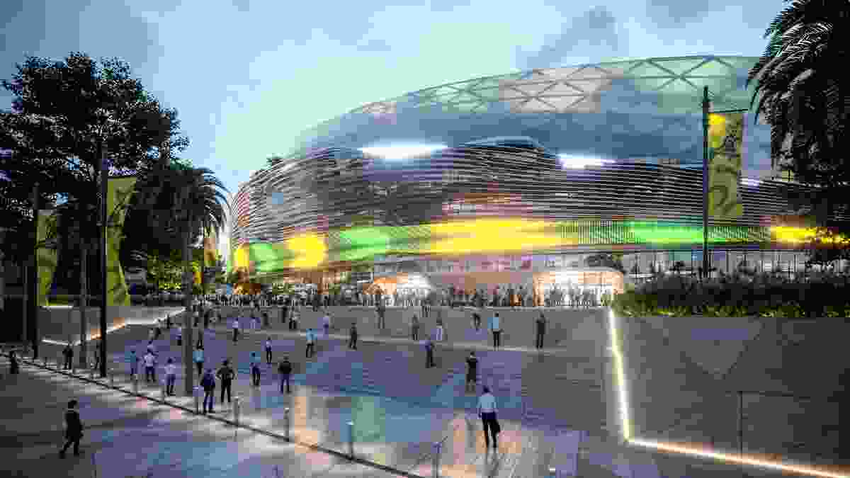 Cox Architecture's winning design for the Sydney Football Stadium.