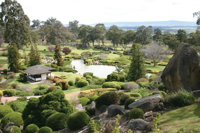 The five-hectare Japanese Garden at Cowra designed by Ken Nakajima suggests shared cultural tolerance.