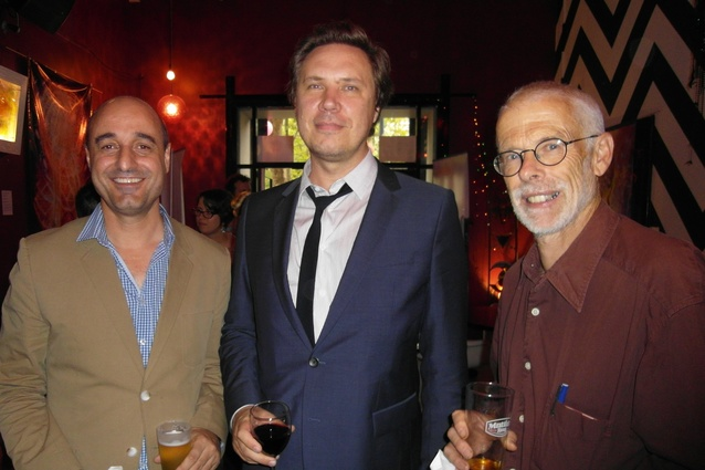 Mariano Deduonni (Hassell), Ben Hewett (SA Government Architect) and Tony Radford (University of Adelaide).