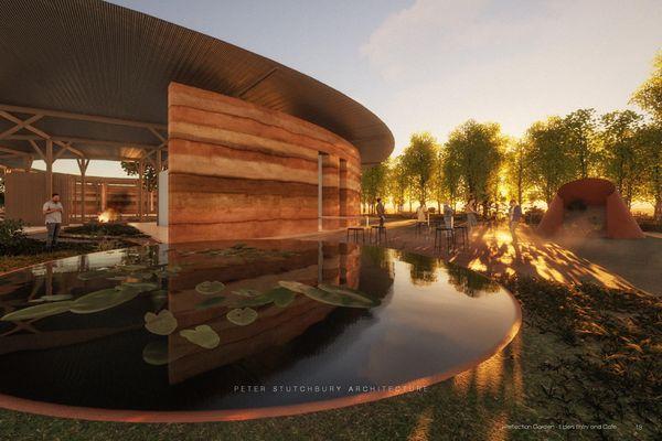Wiradjuri旅游中心的概念设计,由Peter Stutchbury Architecture设计
