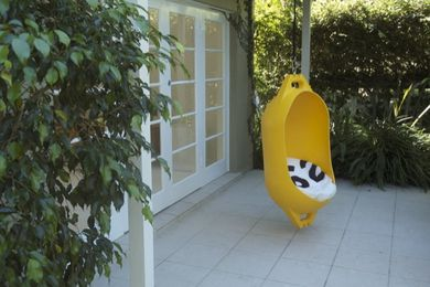Marine Buoy hanging chair by Deck.