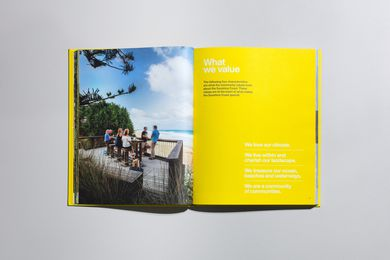 Sunshine Coast Design guide, layout design by Saturate.