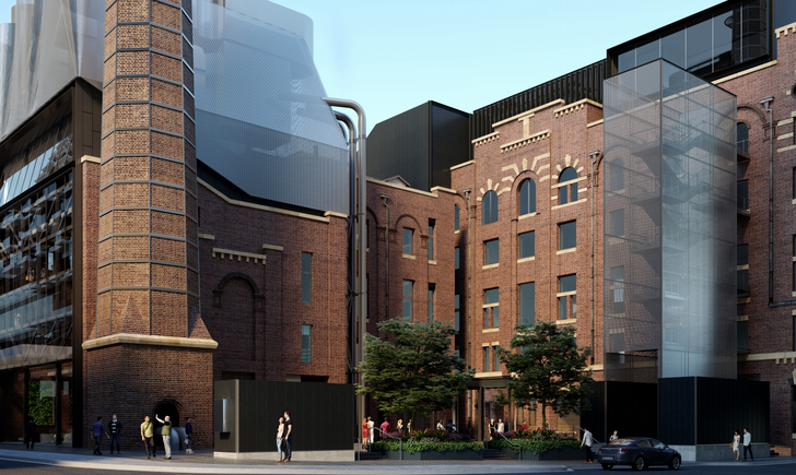Proposed additions to the Irving Street brewery by Tzannes.