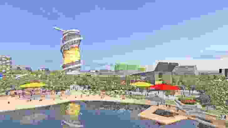 Lakeside view of the proposed Gold Coast Cultural Precinct.