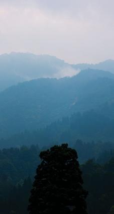 View of mountain ridges.