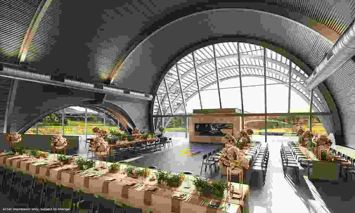 Interior of the proposed Levantine Hill Estate by Fender Katsalidis.