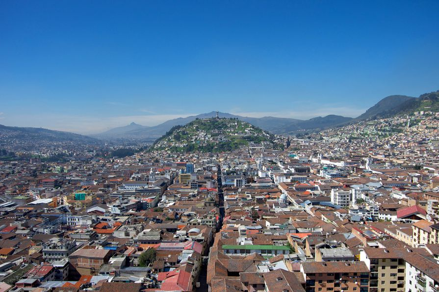 Looking over the old town of Quito, Ecuador - host city of the Habitat III summit.