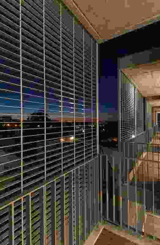 Miradors at night: view out.