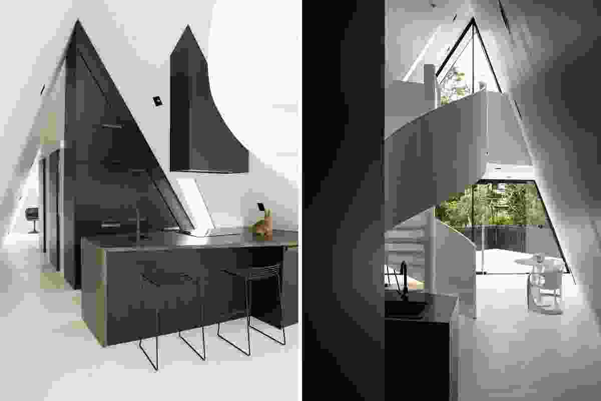 Inside is a compact balance of angles, planes and volumes.