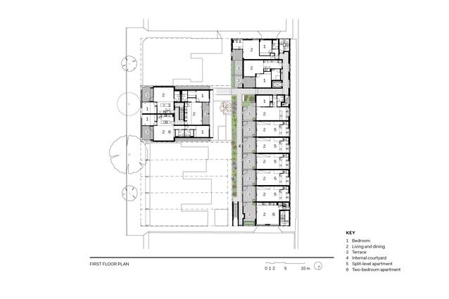 Woolloomooloo apartments first floor plan.