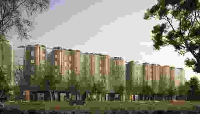 一个悉尼公园由MHN设计联盟,Silvester Fuller和Sue Barnsley设计。