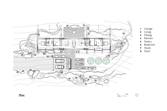 Plan of Tent House by Sparks Architects.