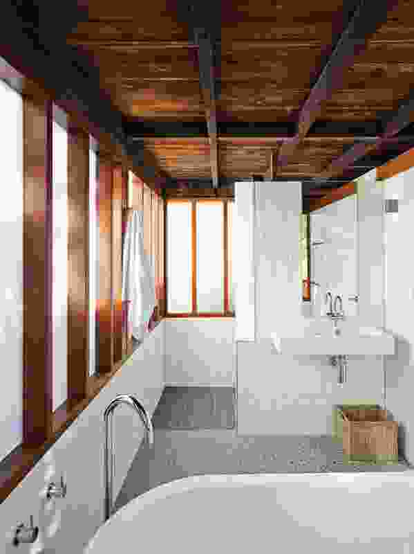 The new bathroom was added to suit the changing needs of the family.