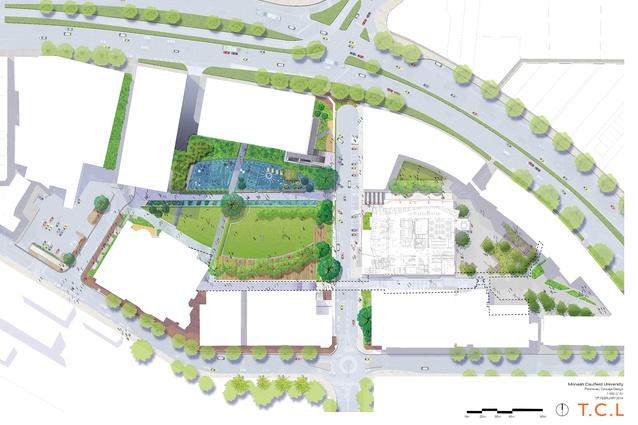 Monash University Caulfield Campus Green Site Plan.