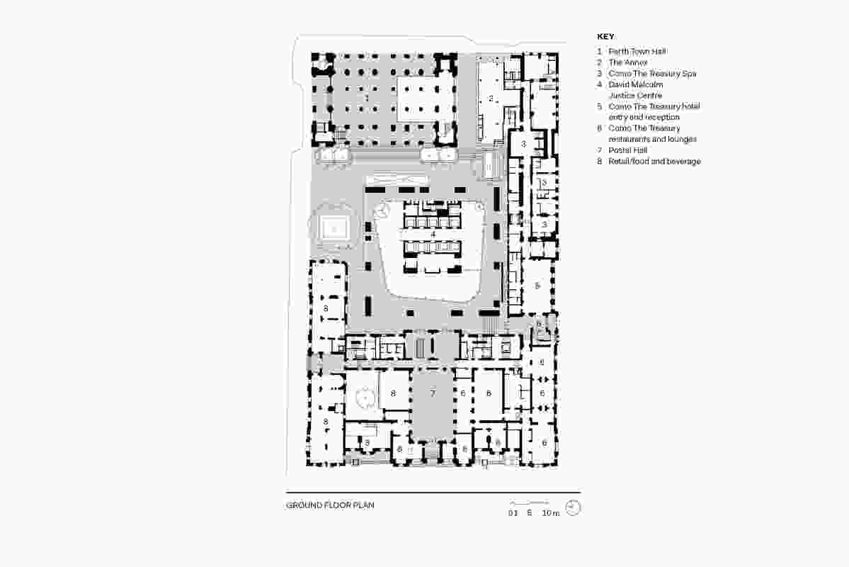 Cathedral Square ground floor plan.