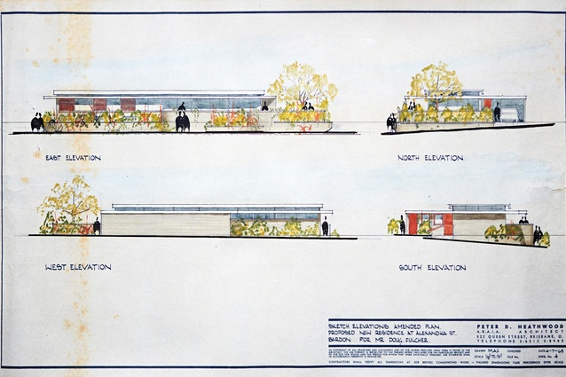Original elevational drawings from July 1963 by Peter Heathwood.