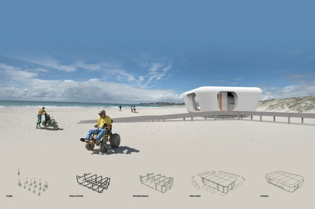 People's Beach by Coniglio Ainsworth Architects.