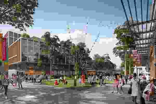 高点城中村概念形象。