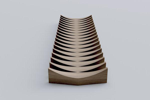 Furl bowl by Adam Goodrum.