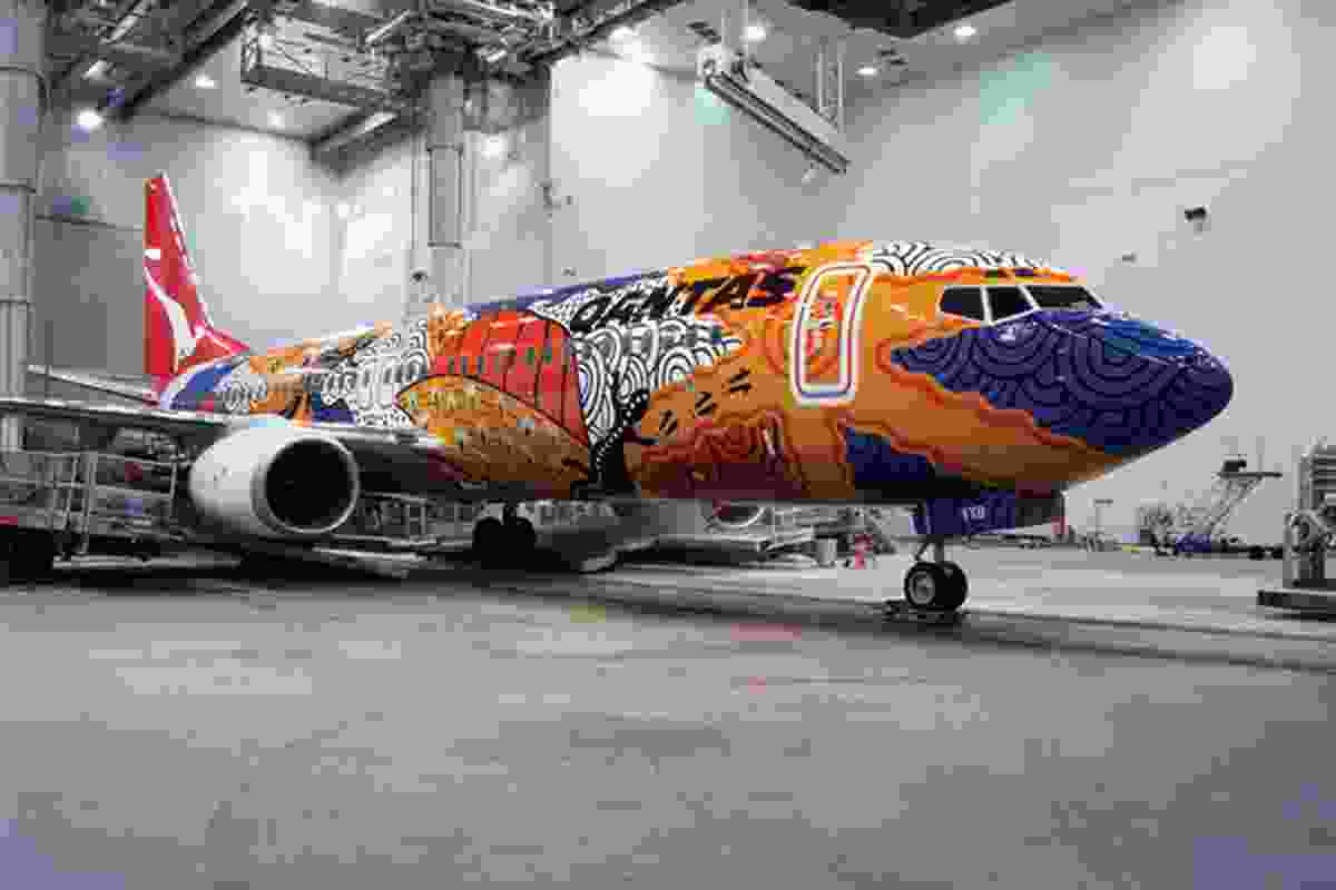 John and Roslynne Moriarty's collaboration with Qantas for the launch of their first Boeing 737-800.