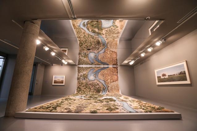 Installation view of Alexandra Kehayoglou, <i>Santa Cruz River</i>, 2017 at NGV Triennial at NGV International 2017.
