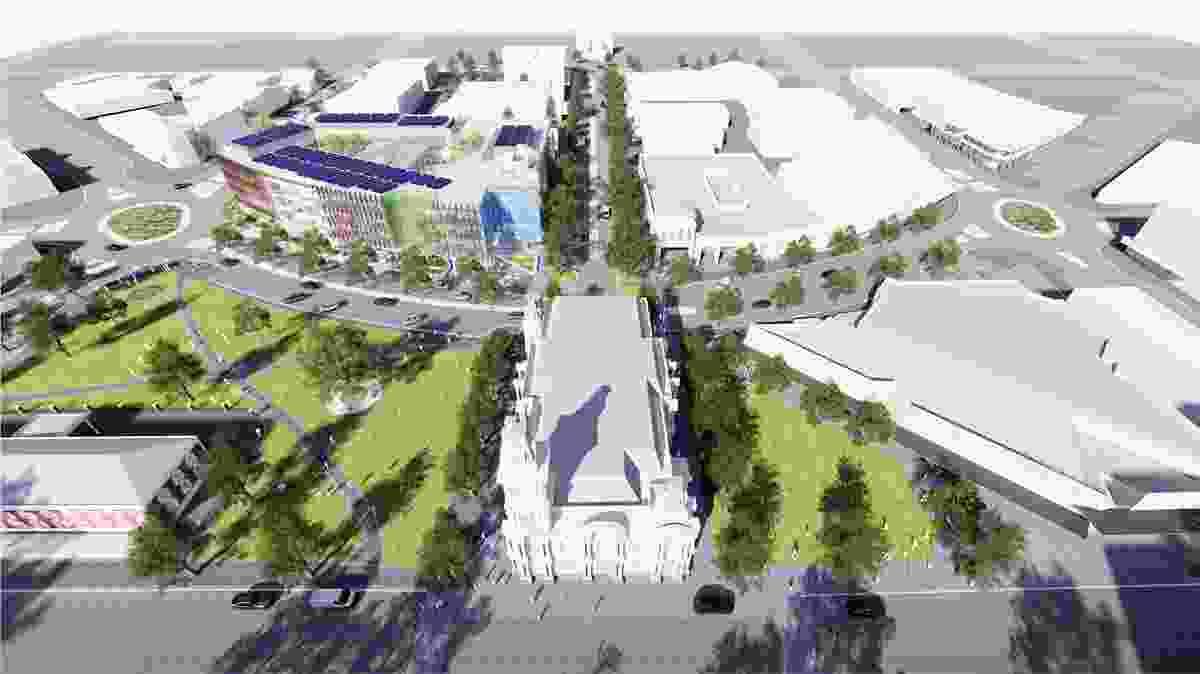 Bendigo Govhub by Lyons Architects follows the shape of Lyttleton Terrace.