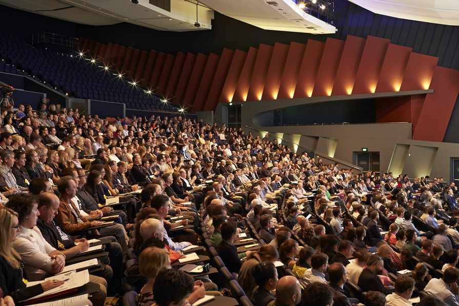 The audience at Making, the 2014 National Architecture Conference held at the Perth Convention and Exhibition Centre.