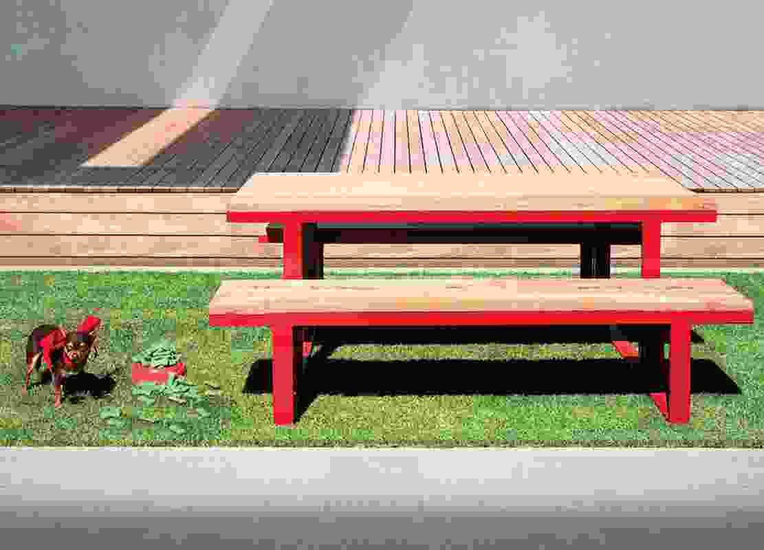 Sandy table.