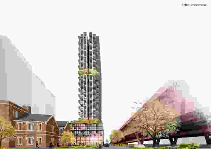 The proposed development at 132 Kavanagh Street in Southbank by DKO Architecture.