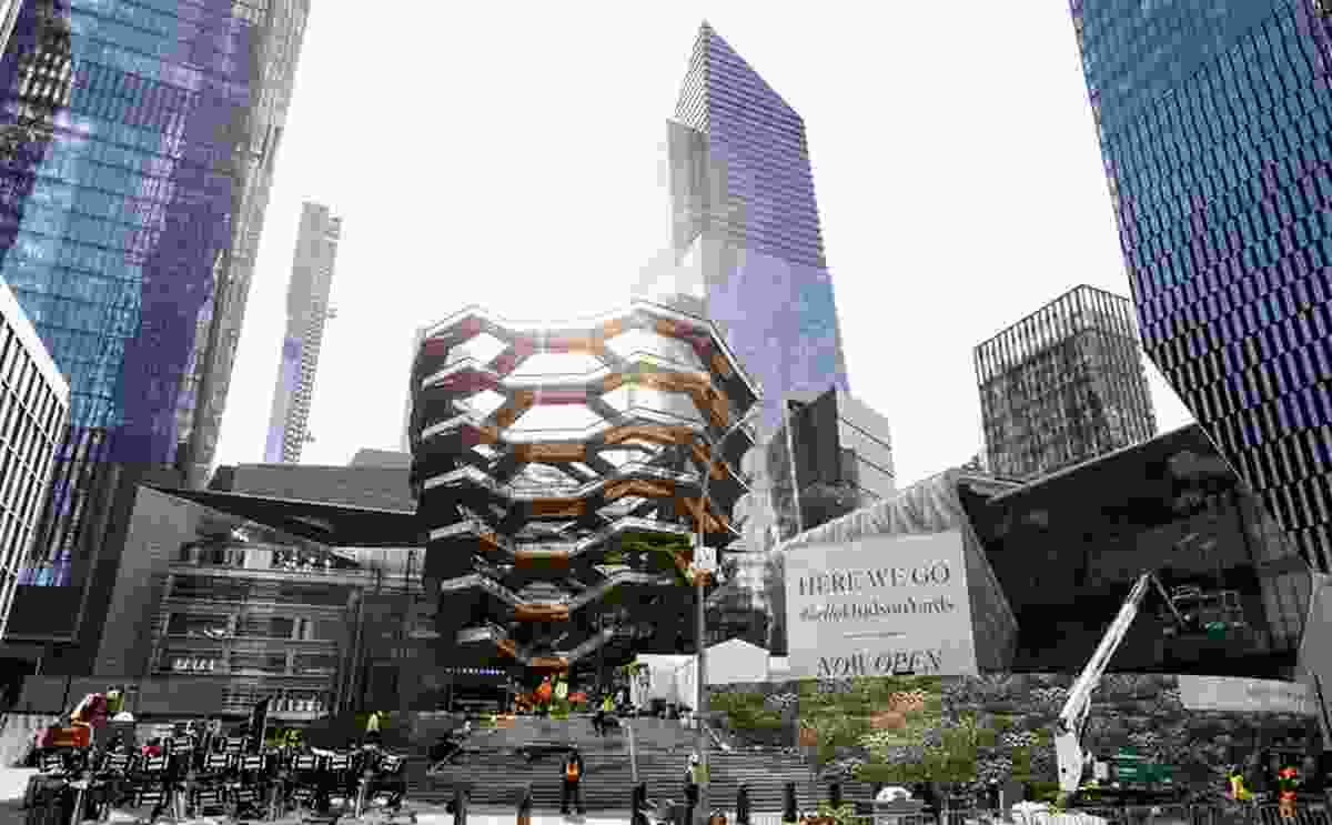 Hudson Yards, the largest private real estate development in the United States, opened this year in New York, having gone through the city's standard planning process.
