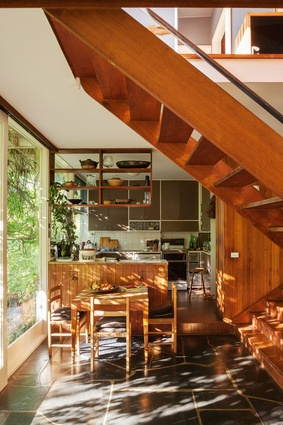 The Stones' budget only allowed for kitchen built-ins, and the rest of the joinery was purchased at a later date.