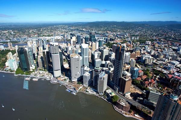 The city of Brisbane in Queensland.