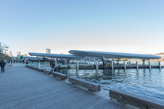 Barangaroo Ferry Hub by Cox Architecture.