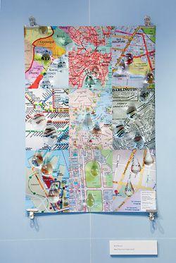 Ruth Watson, Maps That Cried (1995–2005), by Ruth Watson.