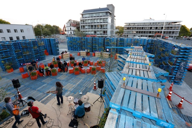 Pallet Pavilion offered a temporary venue for music and cultural events