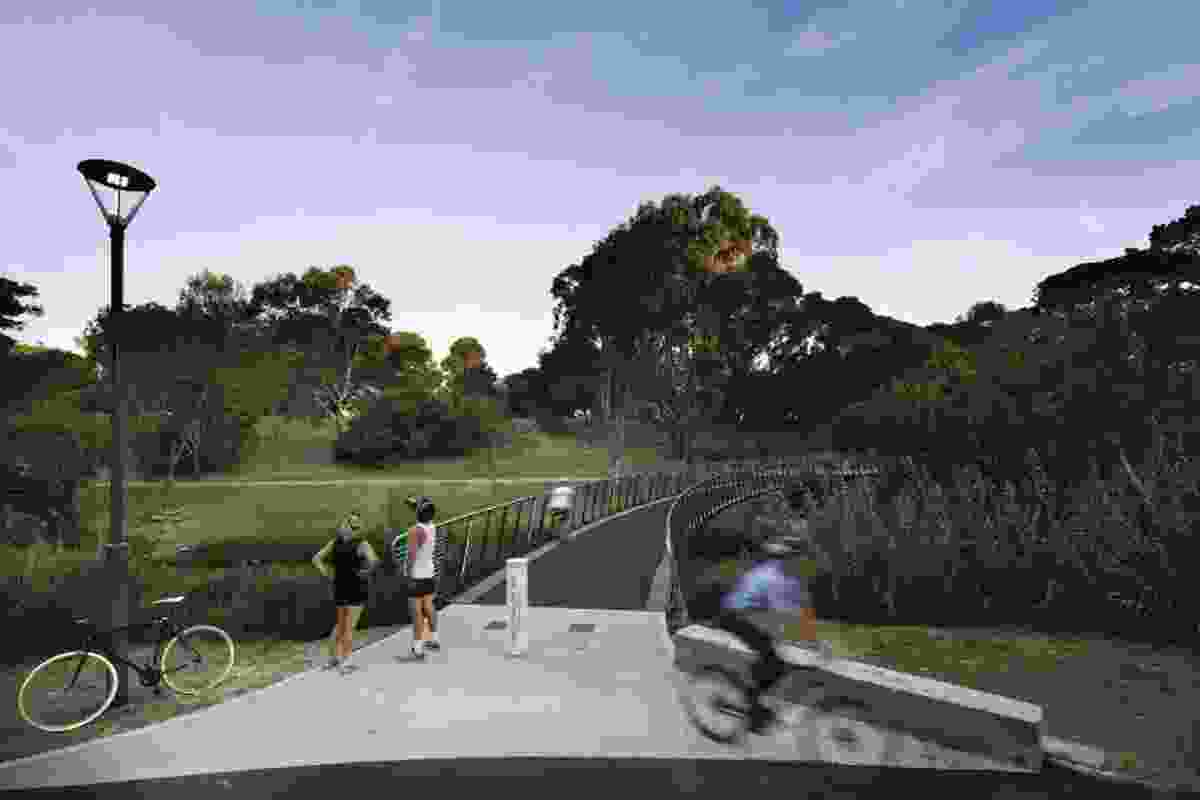 The bridge provides key recreational links to destinations such as Adelaide zoo and the botanic gardens.