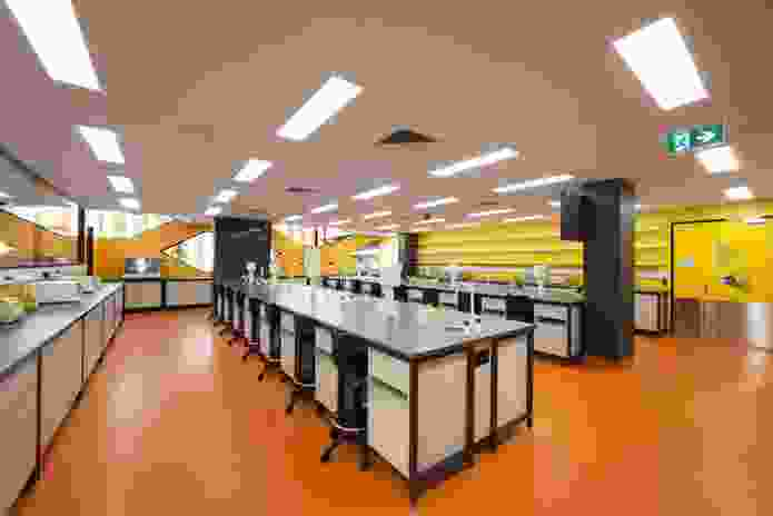 A typical teaching laboratory.