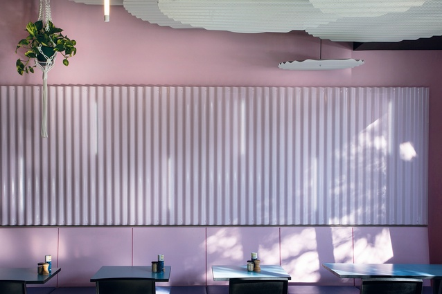 Neon Tiger, a cafe in Melbourne's Malvern, designed by Sibling in 2015.