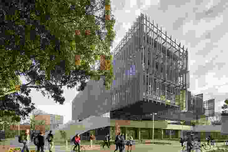 Melbourne School of Design by John Wardle Architects and NADAAA in collaboration.