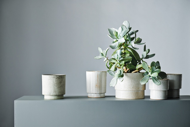 Anchor Ceramics' planters are thrown by hand on a potter's wheel and finished in glazes.