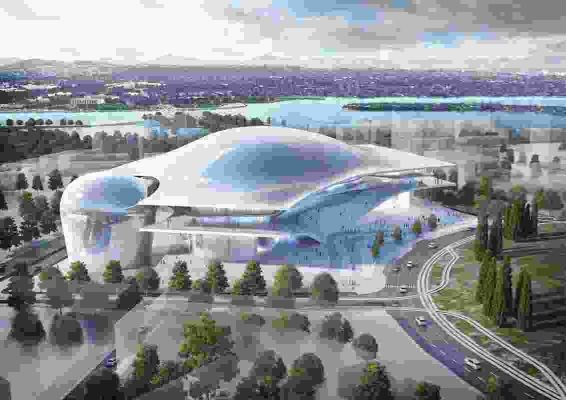The reference design for Australia Forum designed by Fuksas Architecture and Guida Moseley Brown.