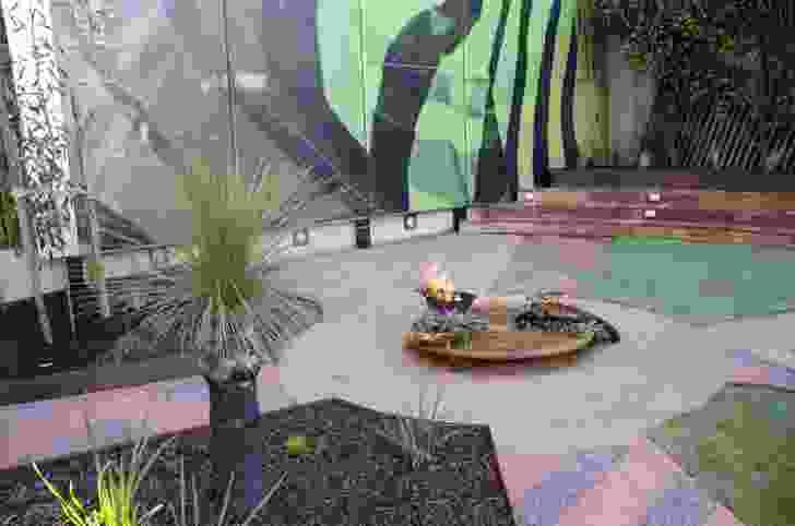A sculptural laser-cut smoke pit at Ngarara Place at RMIT City Campus by Greenaway Architects.