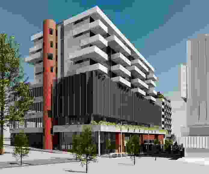 The proposed hotel and apartments at Curtin University by Nettleton Tribe Architects.