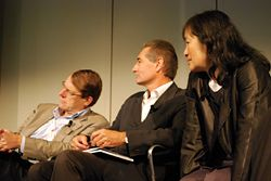 James Weirick, Peter Mould and Billie Tsien on the Sydney Future Visions City jury panel.
