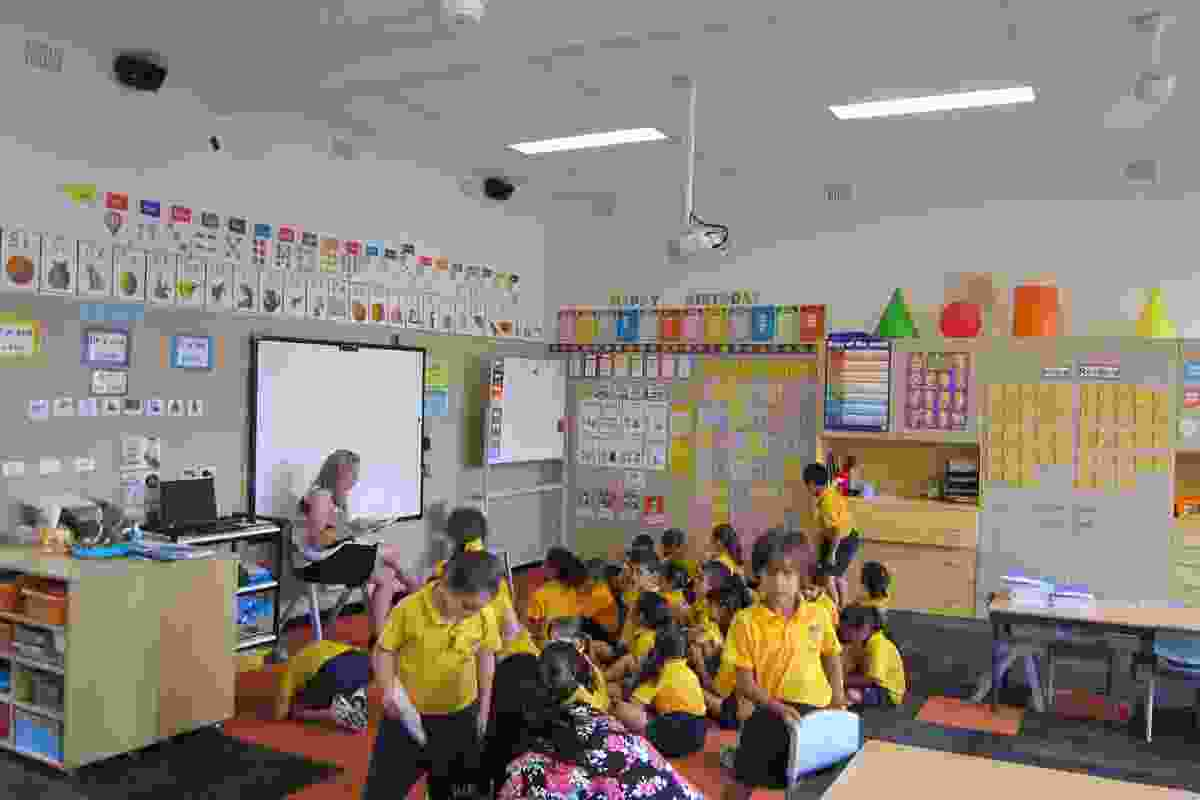 Ecophon ceiling tiles at Holy Family Primary School.