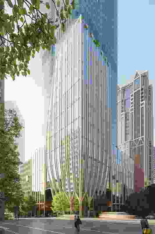 The updated design for 435 Bourke Street by Bates Smart.